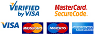 Secure Transactions - we accept all credit cards