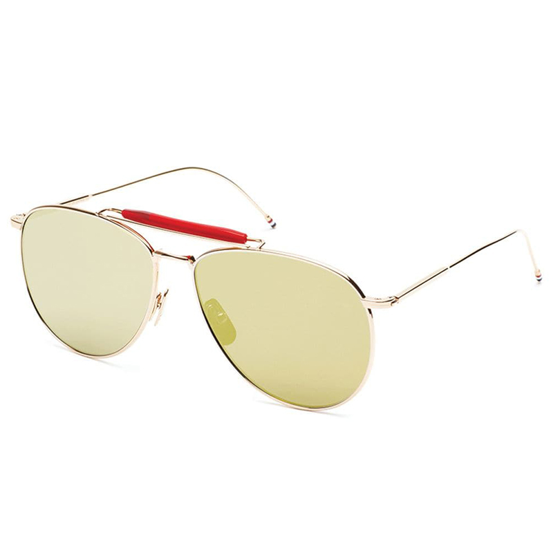 675d3b8a8d1c Gold Aviators With Mirrored Lens