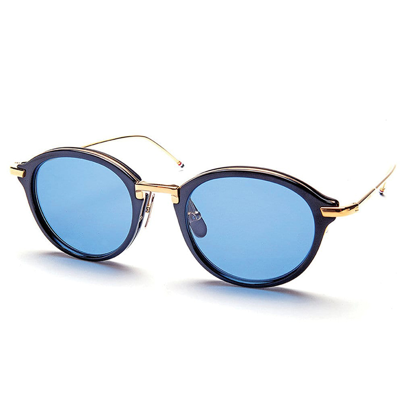 1761127094 Round Navy   Gold Sunglasses. Return to Previous Page. lightbox